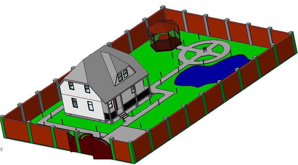 Как в компасе сделать дом